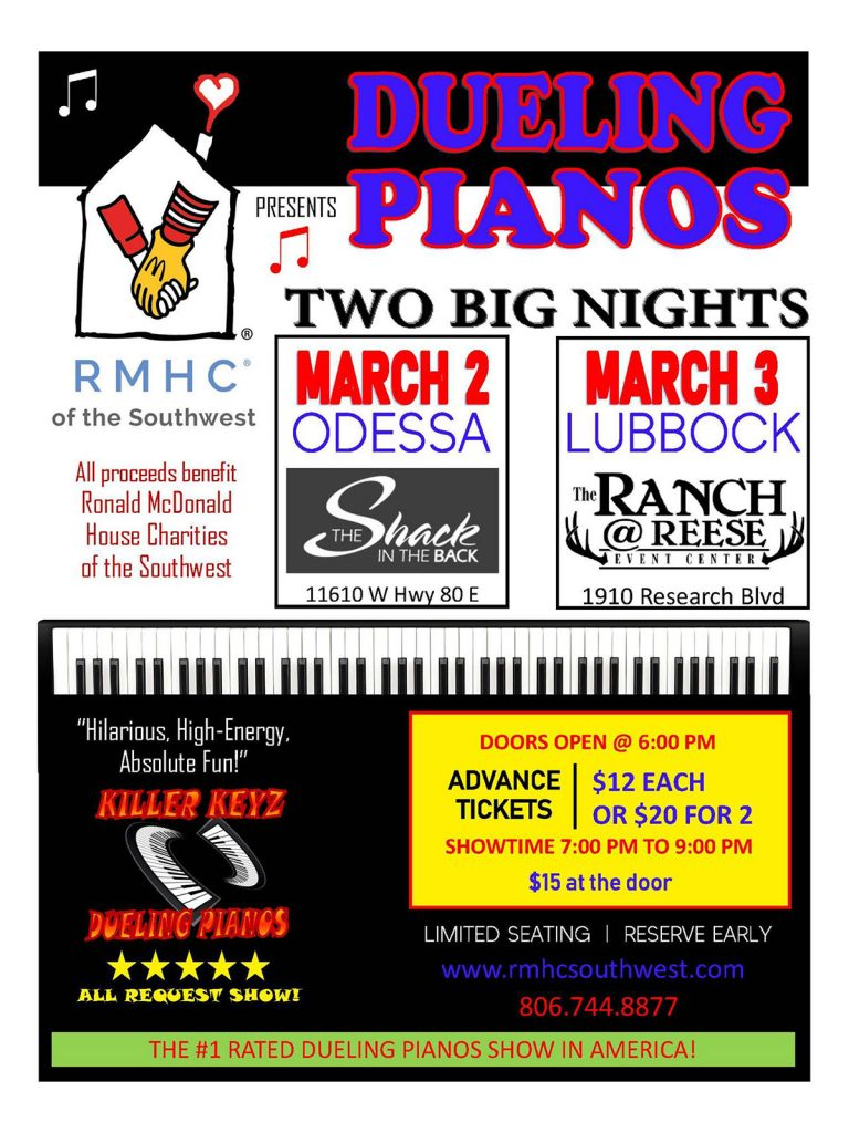 Dueling Pianos - Killer Keys in Lubbock and Odessa