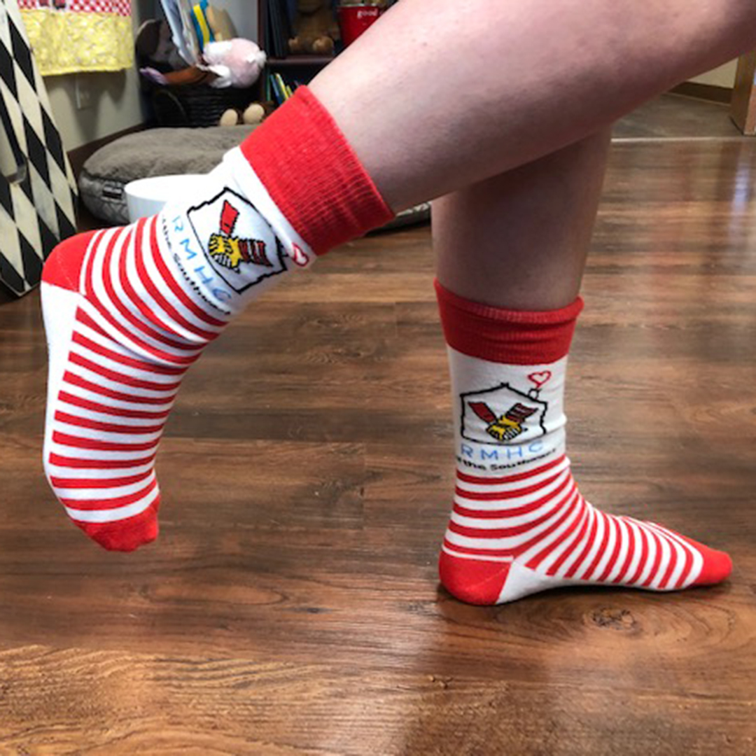 RMHC Striped Socks