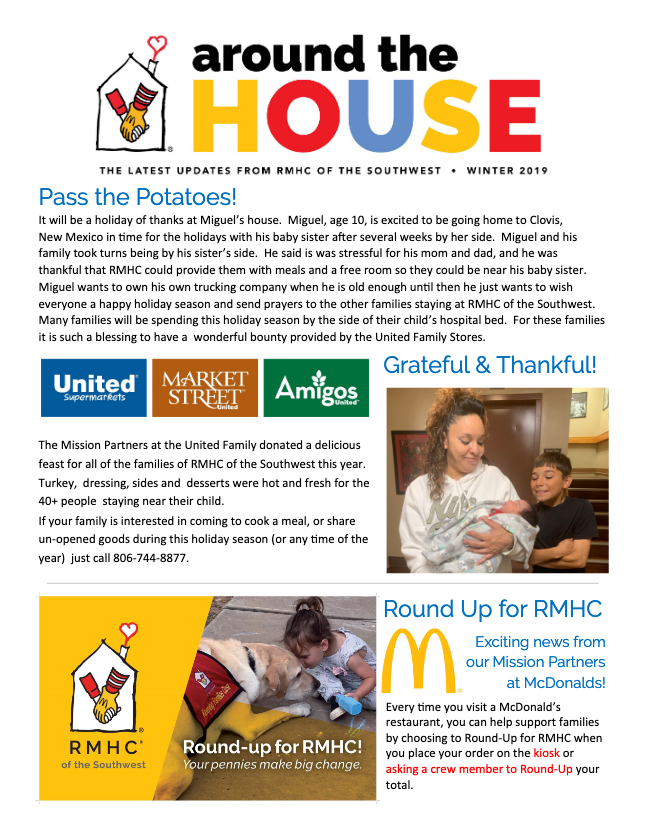 rmhc around the house cover